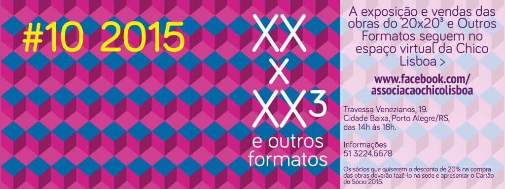 20 x 20³ e Outros Formatos 2015 na Chico banner site 3