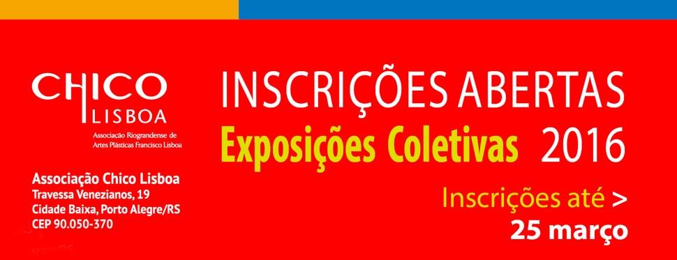 Banner site Inscrições Exposições Coletivas Chico Lisboa 2016