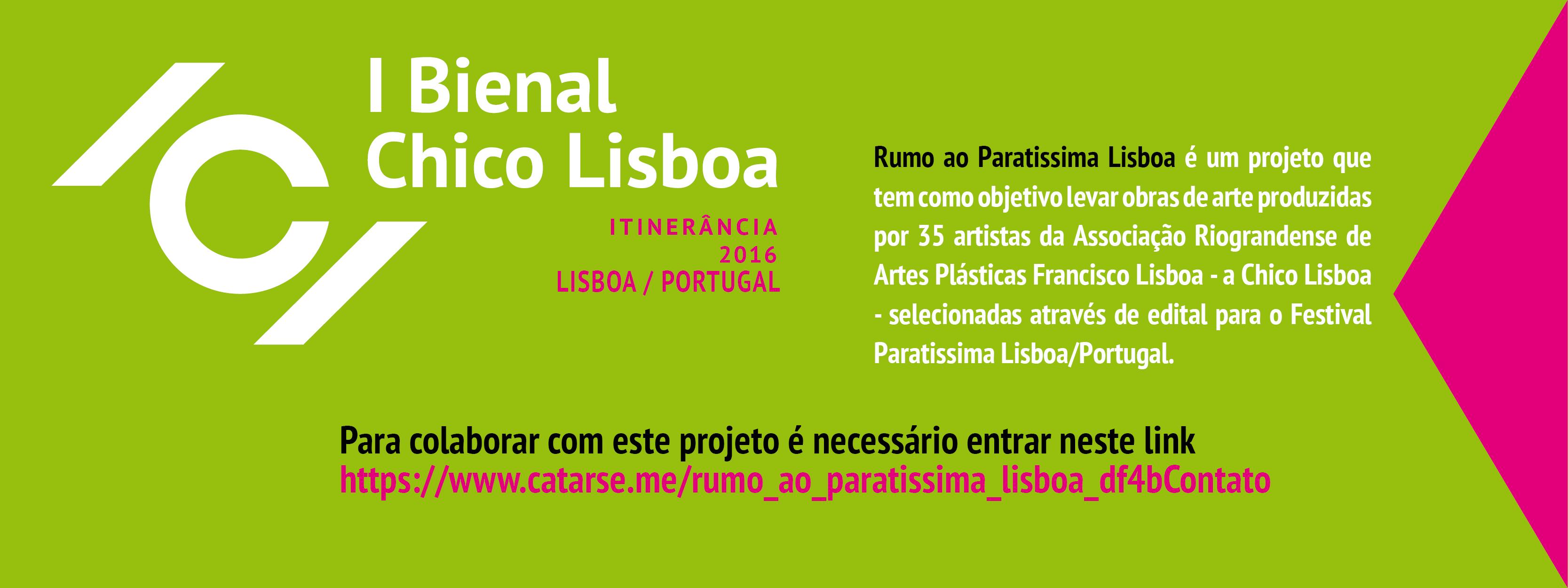 Ajude a Chico Lisboa a ir para a Paratissima Portugal e ganhe recompensas