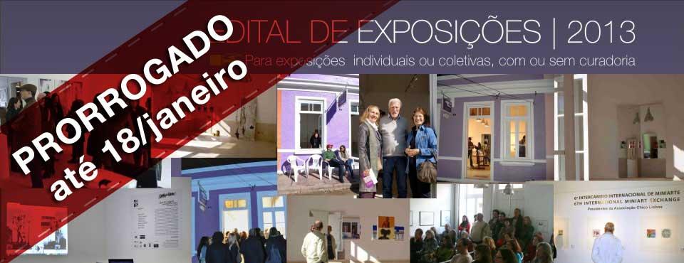 Edital de Exposições 2013
