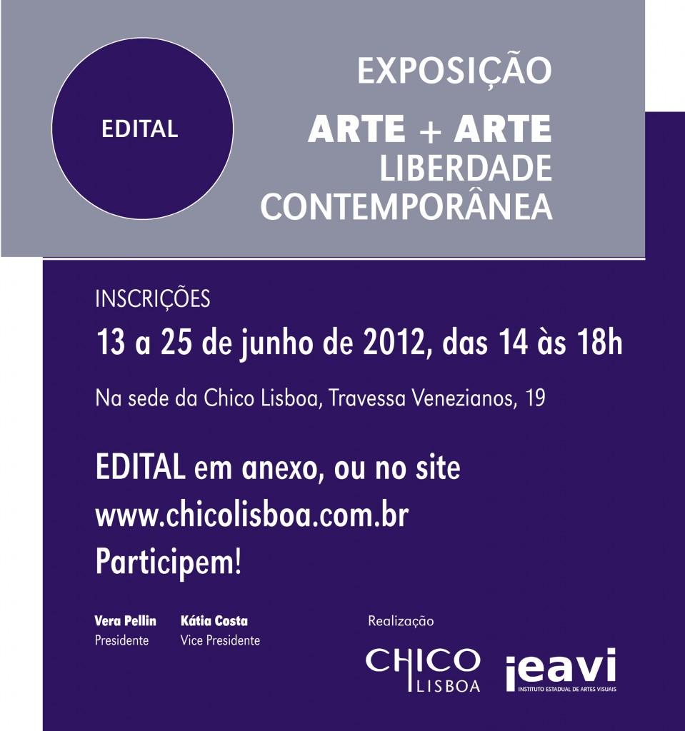 EDITAL Arte+Arte 2012
