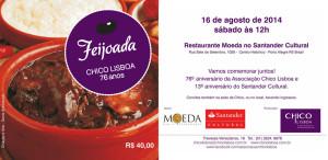 Convite Feijoada Chico Lisboa