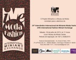 24º Intercâmbio Internacional de Miniarte Moda