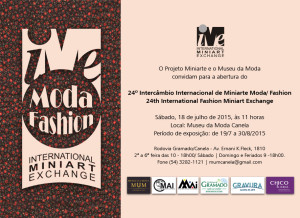 24º Intercâmbio Internacional de Miniarte Moda