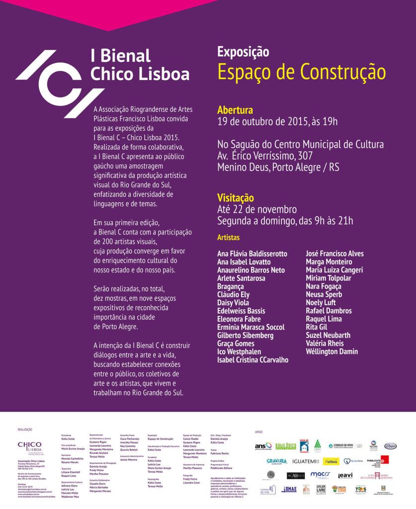 I Bienal C – Exposição Espaço de Construção