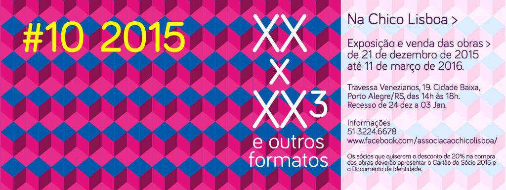 20 x 20³ e Outros Formatos 2015 na Chico banner site