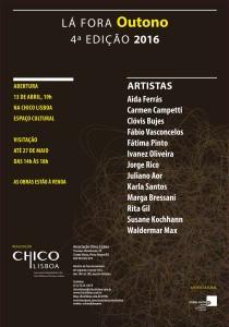 Convite Exposição Projeto Lá Fora Outono 4ª Edição 2016