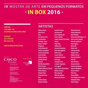 IV Mostra de Arte em Pequenos Formatos - IN BOX Chico Lisboa 2016