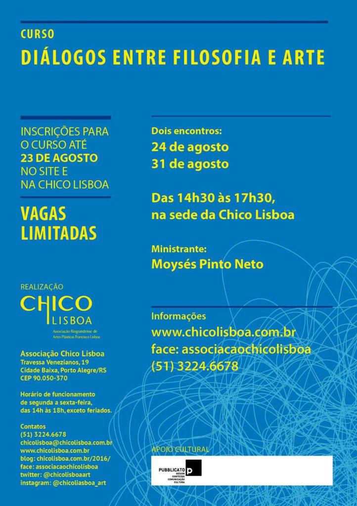 Convite Curso Diálogos entre Filosofia e Arte