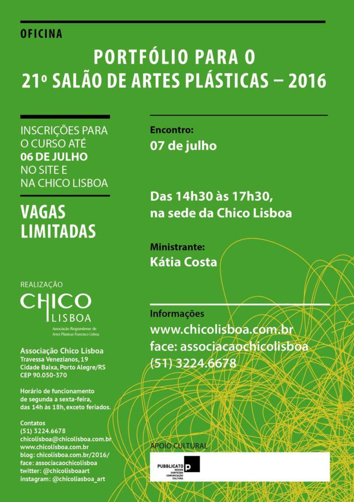 Oficina portfólio para o 21º Salão de Artes Plásticas - 2016