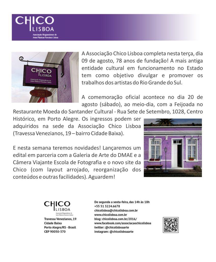 news Chico Lisboa 78 anos