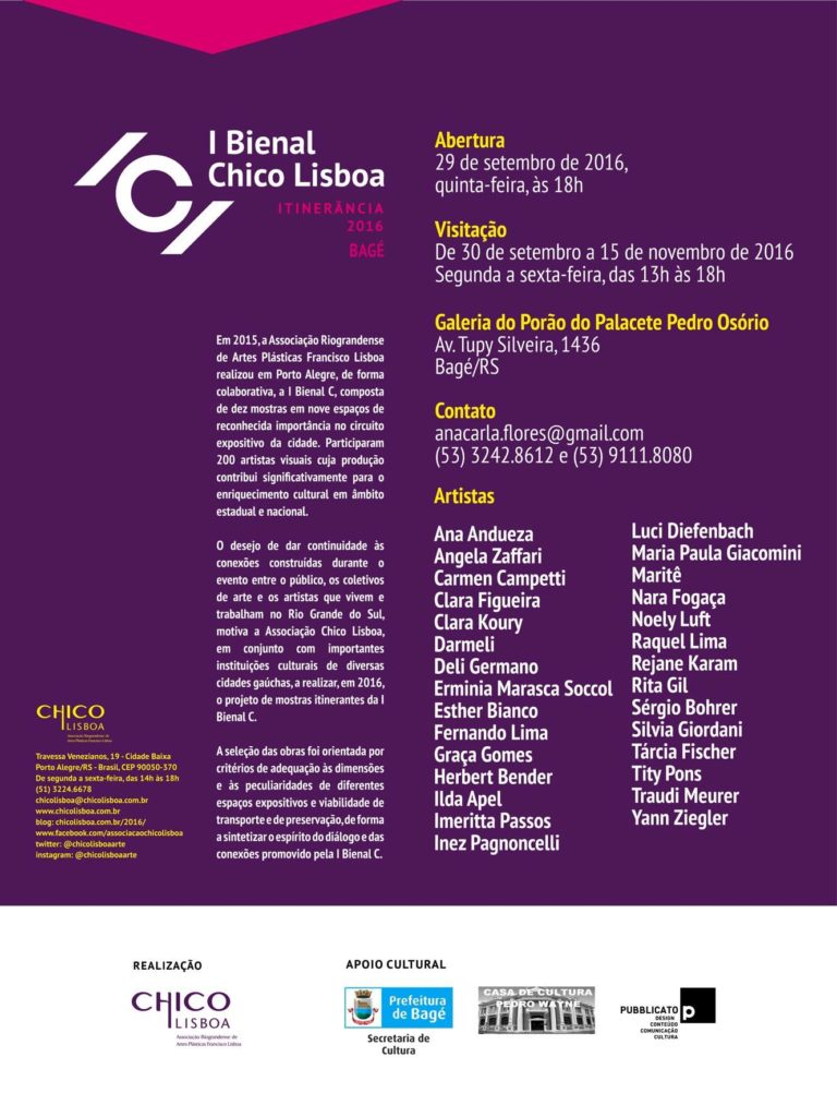 I Bienal C - Itinerância 2016 Bagé