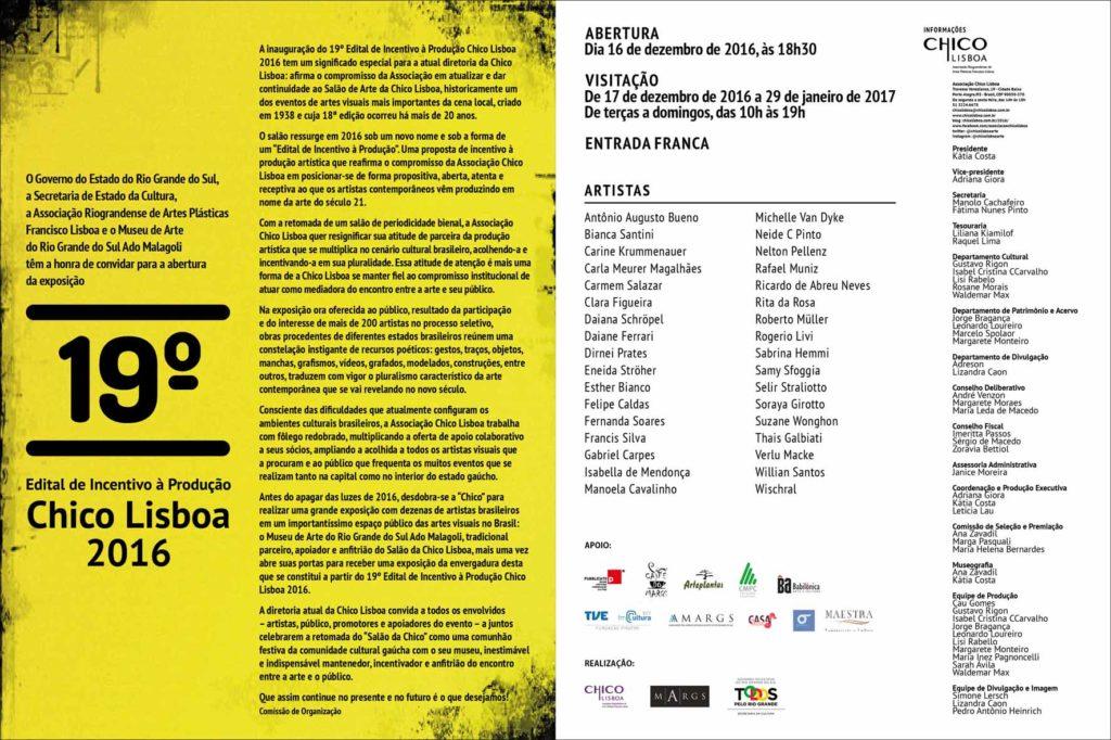 Exposição do 19º Edital de Incentivo à Produção Chico Lisboa 2016