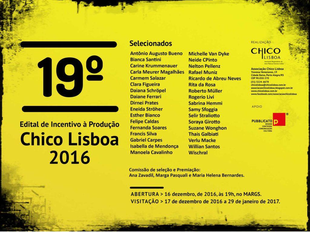 19º Edital de Incentivo à Produção Chico Lisboa 2016