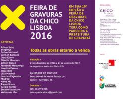 X Feira de Gravuras Chico Lisboa 2016, no Quiosque da Cultura