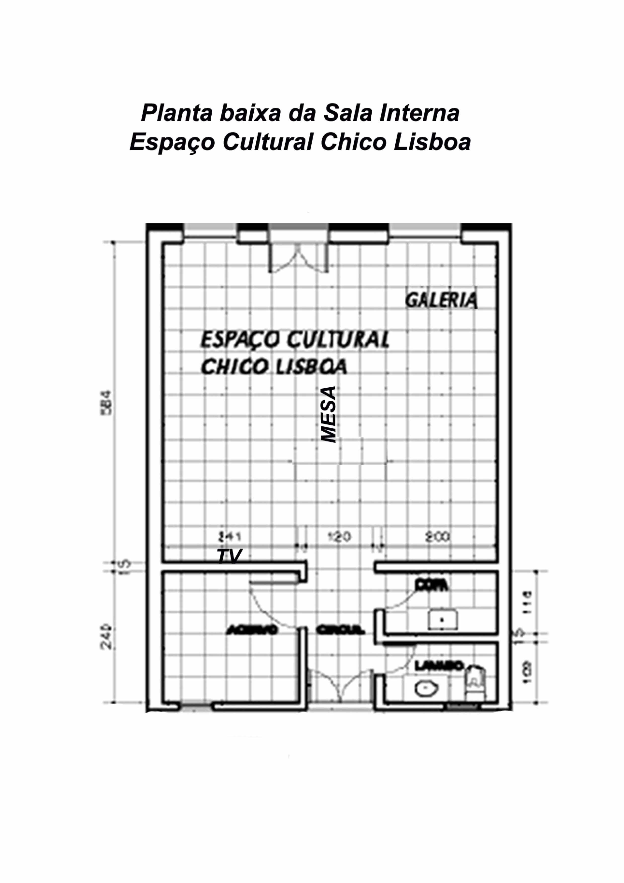 Planta do espaço cultural Chico Lisboa