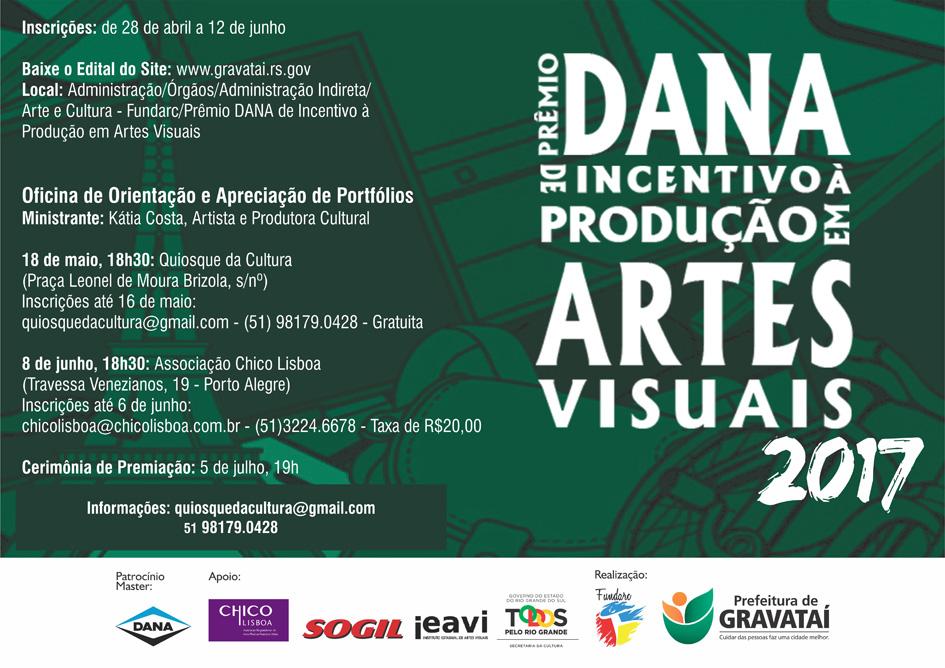 Inscrições abertas para o III Prêmio Dana 2017 e duas oficinas