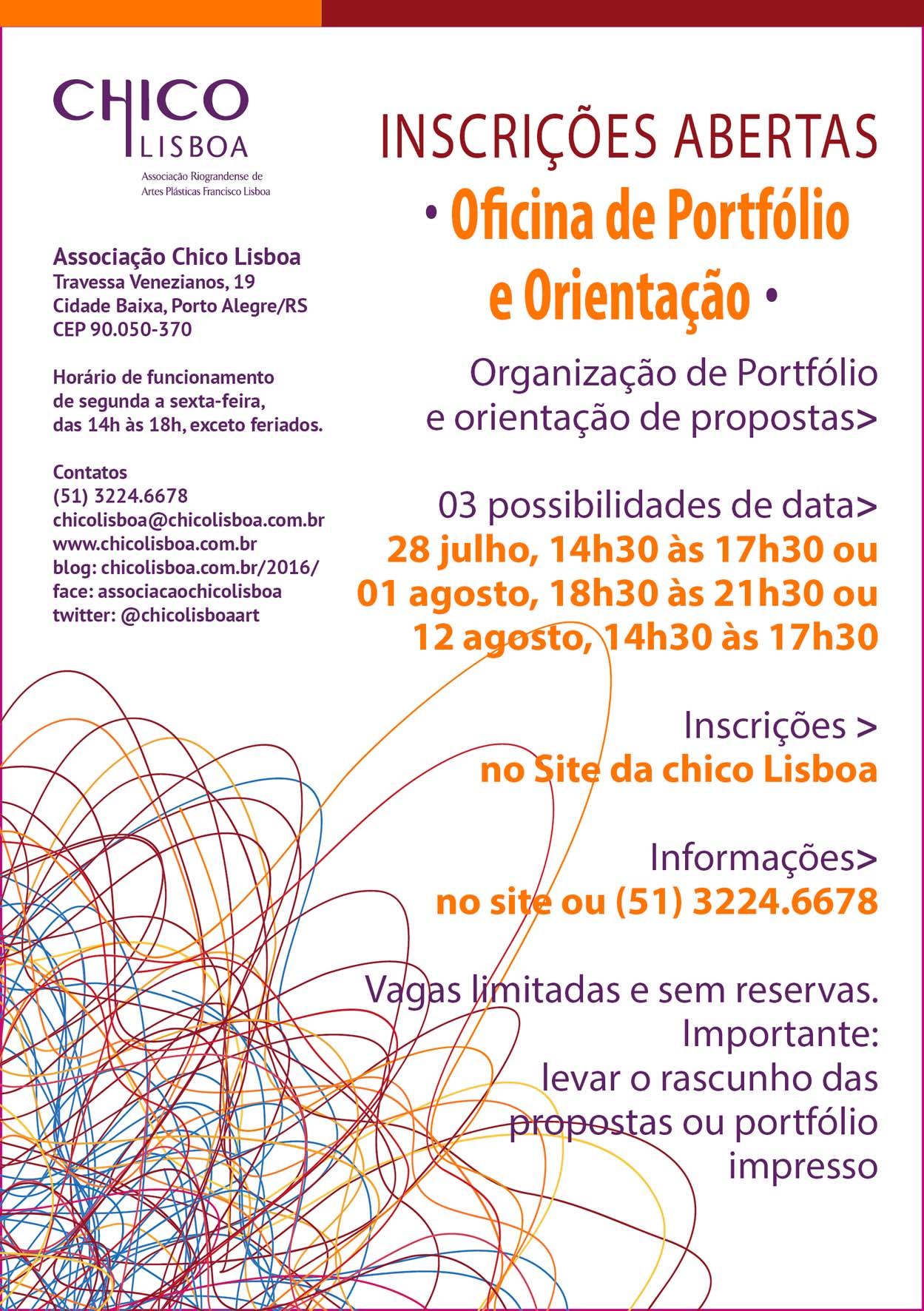 Oficinas de Orientação e Apreciação de Portfólios