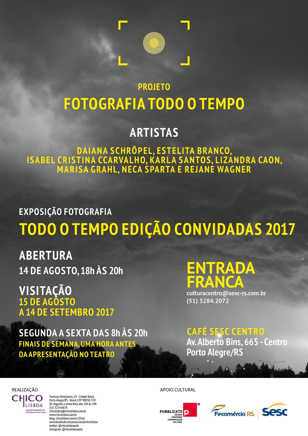 Convite Exposição Fotografia Todo o Tempo – Edição Convidadas
