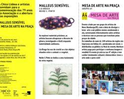 Convite 79 anos Chico Lisboa e Exposições Malleus Sensível e Mesa de Arte na Praça