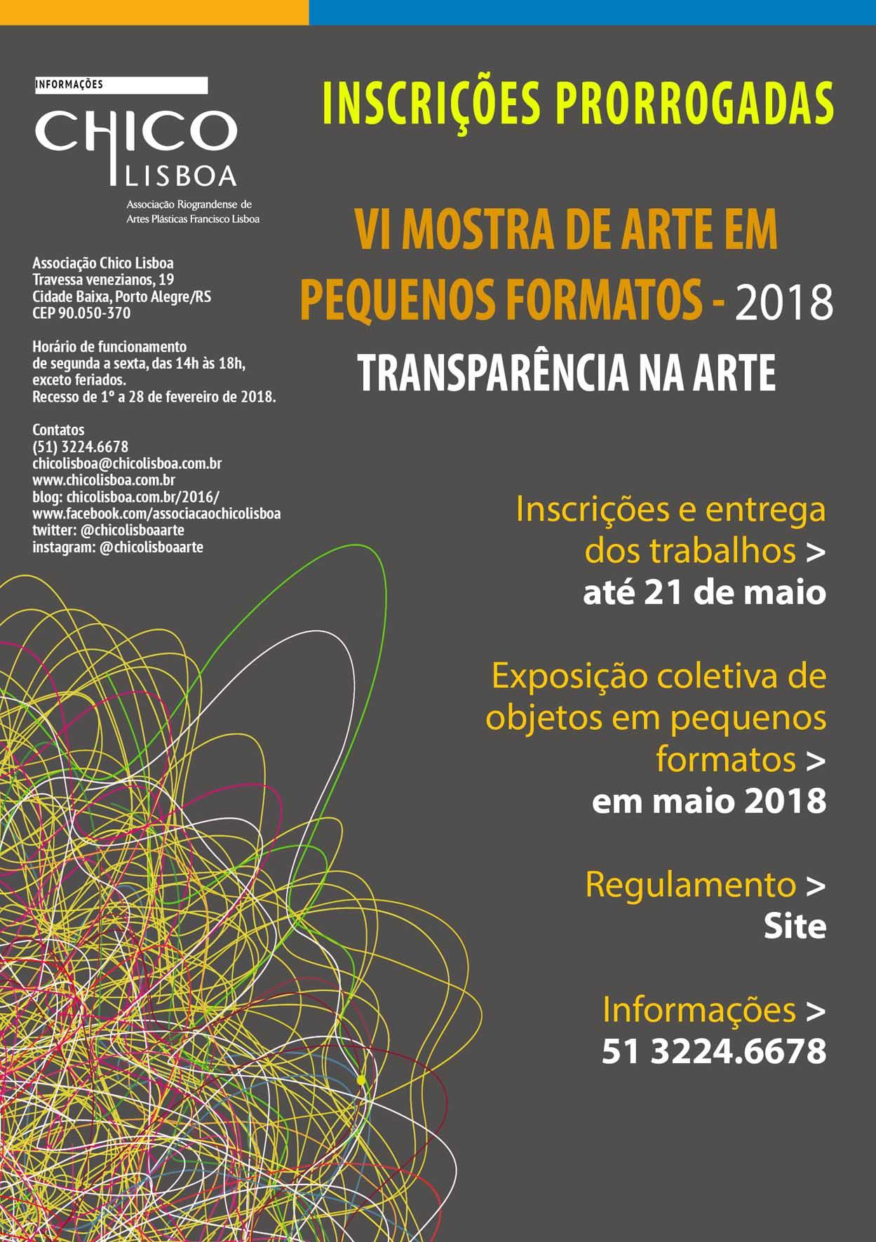 Edital encerrado!! VI Mostra de Arte em Pequenos Formatos 2018 – Transparência na Arte