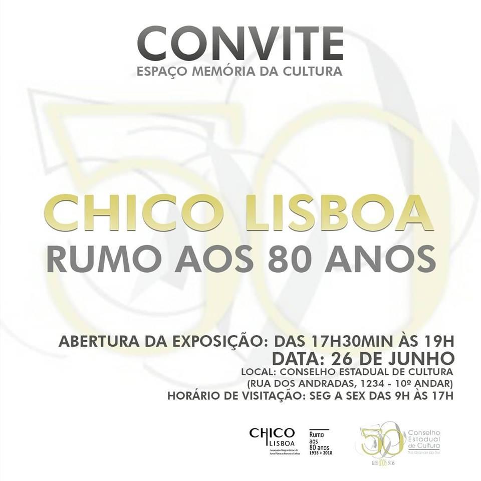 Exposição Chico Lisboa – Rumo aos 80 anos