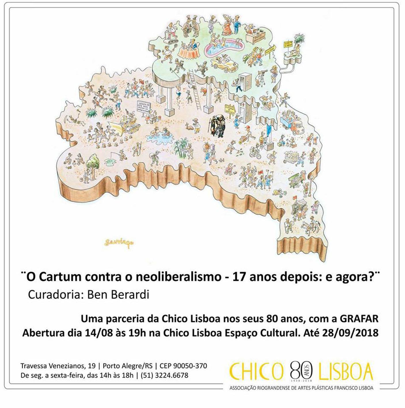 Exposição O Cartum contra o Neoliberalismo – 17 anos depois: e agora?