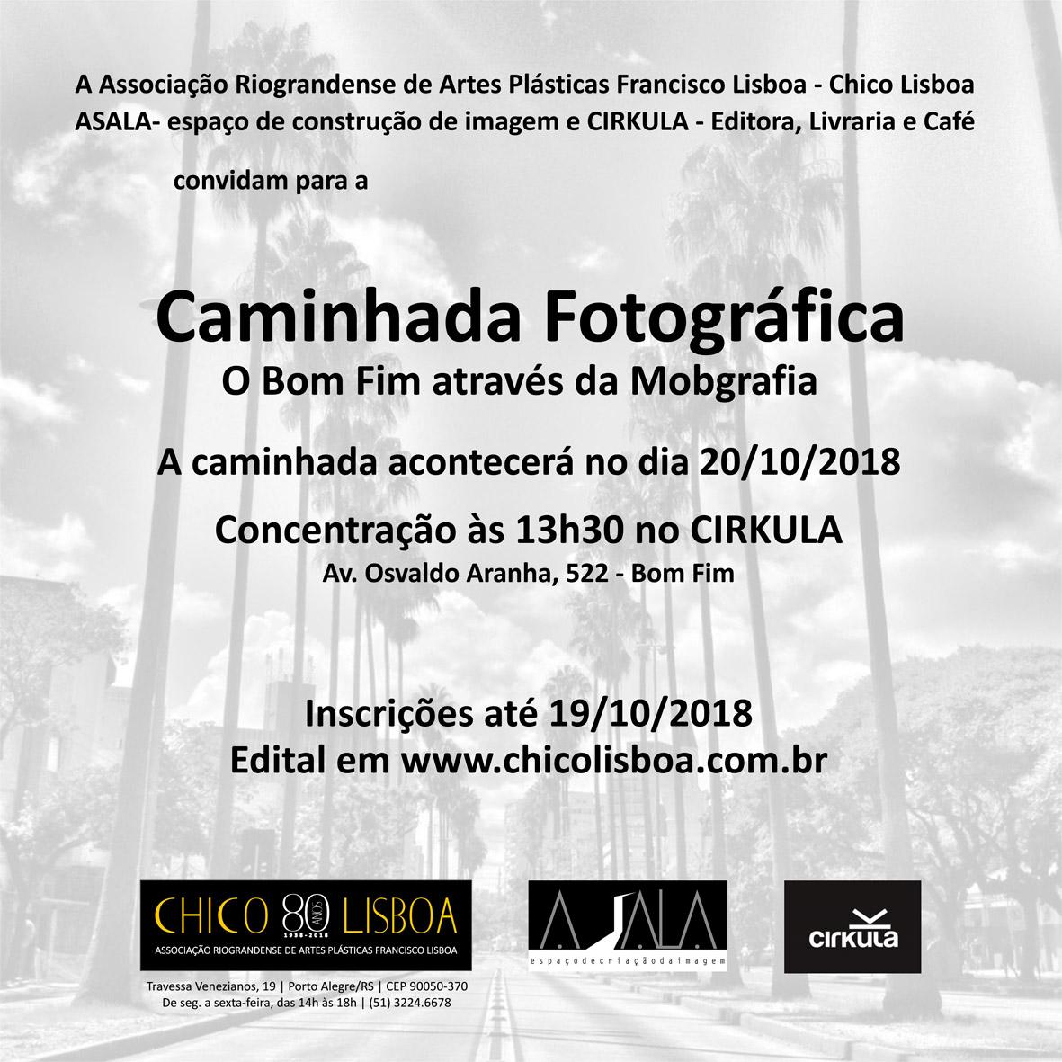 Inscrições abertaspara a Caminhada Fotográfica e exposição fotográfica Bom Fim Todo o Tempo