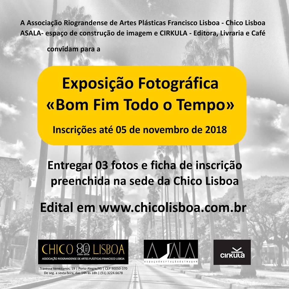 Inscrições encerradas, para a exposição fotográfica Bom Fim Todo o Tempo 2018