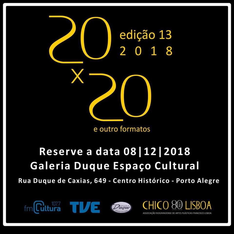 20×20 e outros Formatos 2018 – Reserve a data 08/12/2018