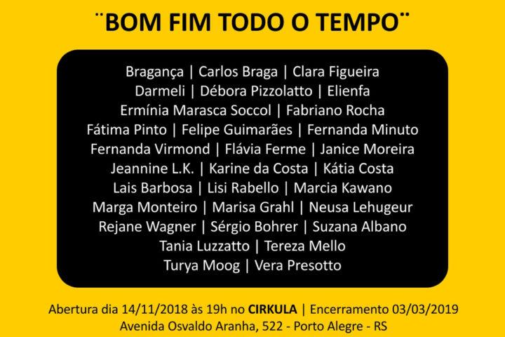 Exposição Bom Fim Todo o Tempo 2018, até 03/03/2019