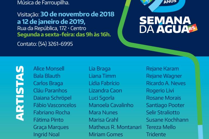 Exposição Encerrada –ÁGUA: ESSÊNCIA DA VIDA – 25 ANOS Semana da Água do RS, em Farroupilha