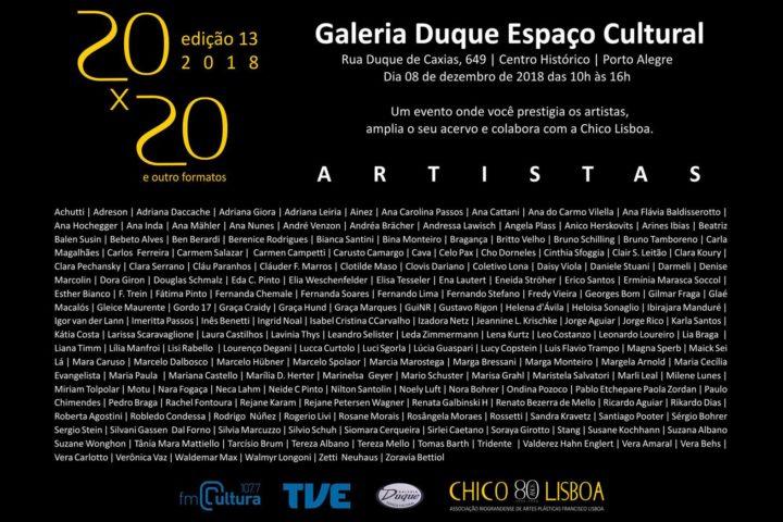Encerrada: 20×20 e outros Formatos 2018 – Na Galeria Duque