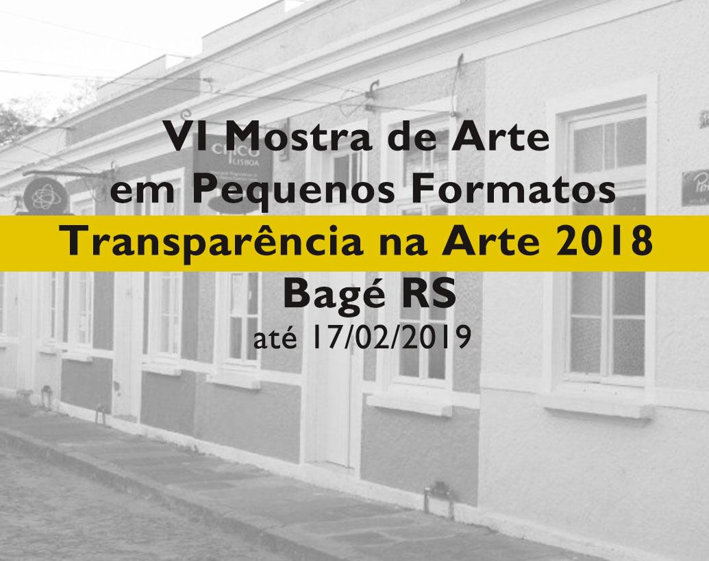 VI Mostra de Arte em Pequenos Formatos em Bagé RS