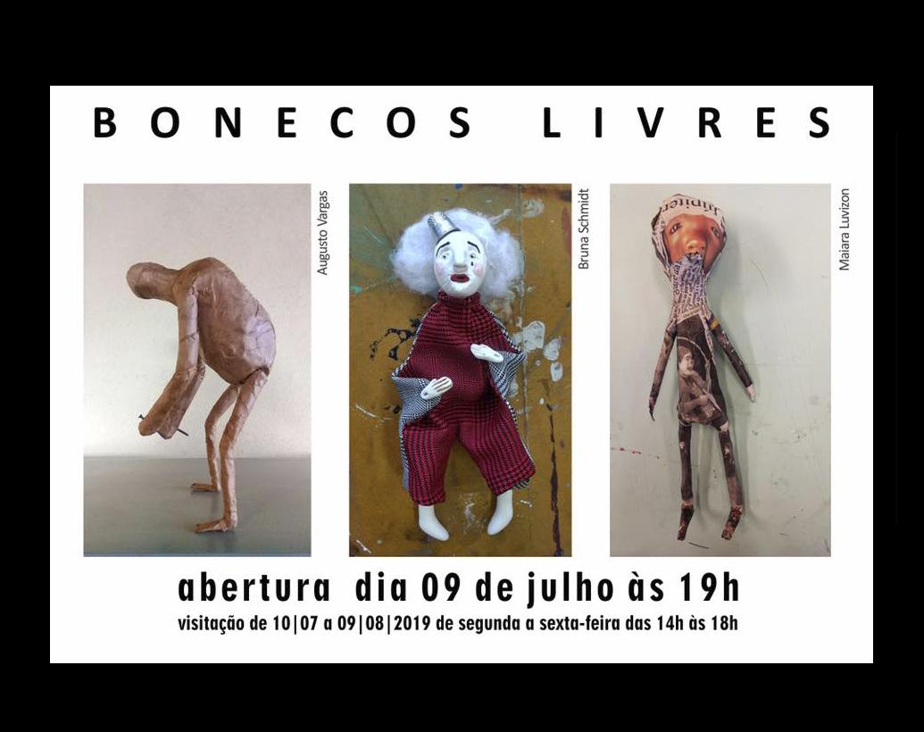 Exposição Bonecos Livres – abertura 09 de Julho