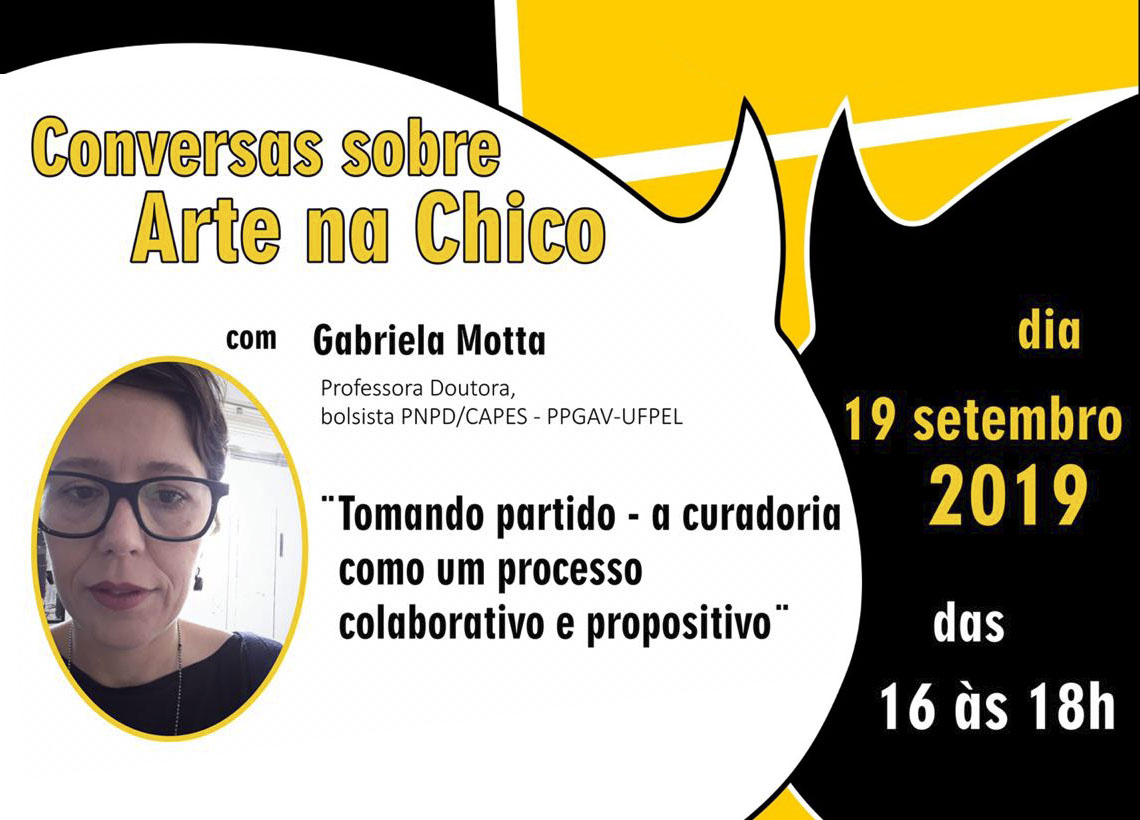 Conversas sobre Arte na Chico Lisboa – Gabriela Motta