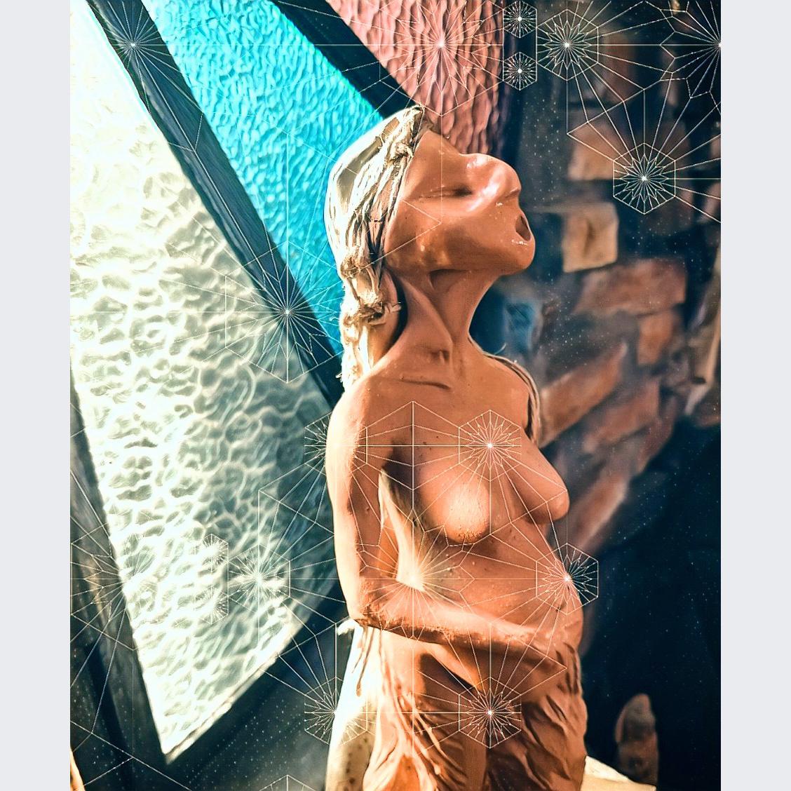 Flavia  Goellner - Título: Pachamama mirando janelas interiores - De dentro, o florescer