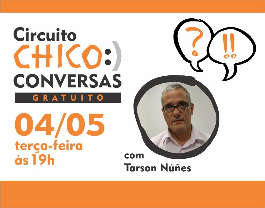 """Conversa sobre """"A arte, o artista e a economia criativa"""" com Tarson Núñes"""