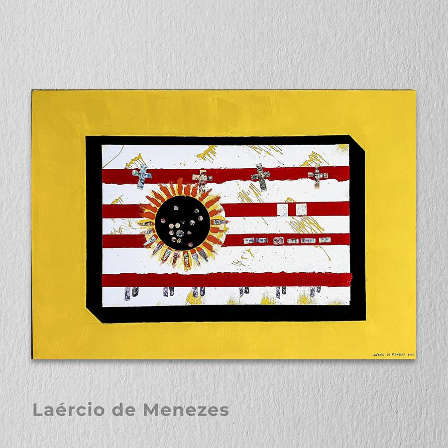 Artista: Laércio de Menezes - Título: Sol Negro, 2020,  da série Deus da Humanidade 100cm x 70cm - Técnica: Pintura (acrílica s/tela) Valor R$ 990,00