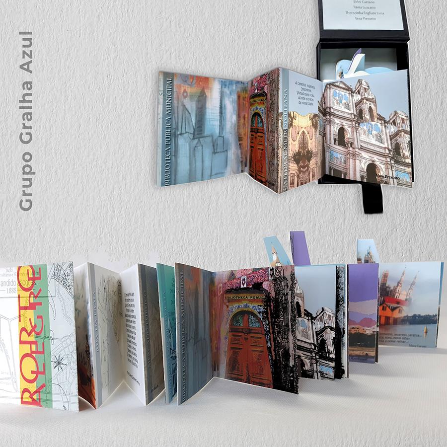 Artista: Grupo Gralha Azul - Título: Porto Alegre 10cm x 11cm - Técnica: Livro de Artista sanfonado - Impressão fotográfica sobre papel enchanced matte. Valor R$ 400,00